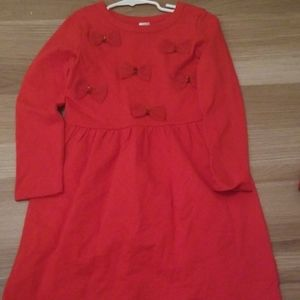 Carter's red holiday dress with bows